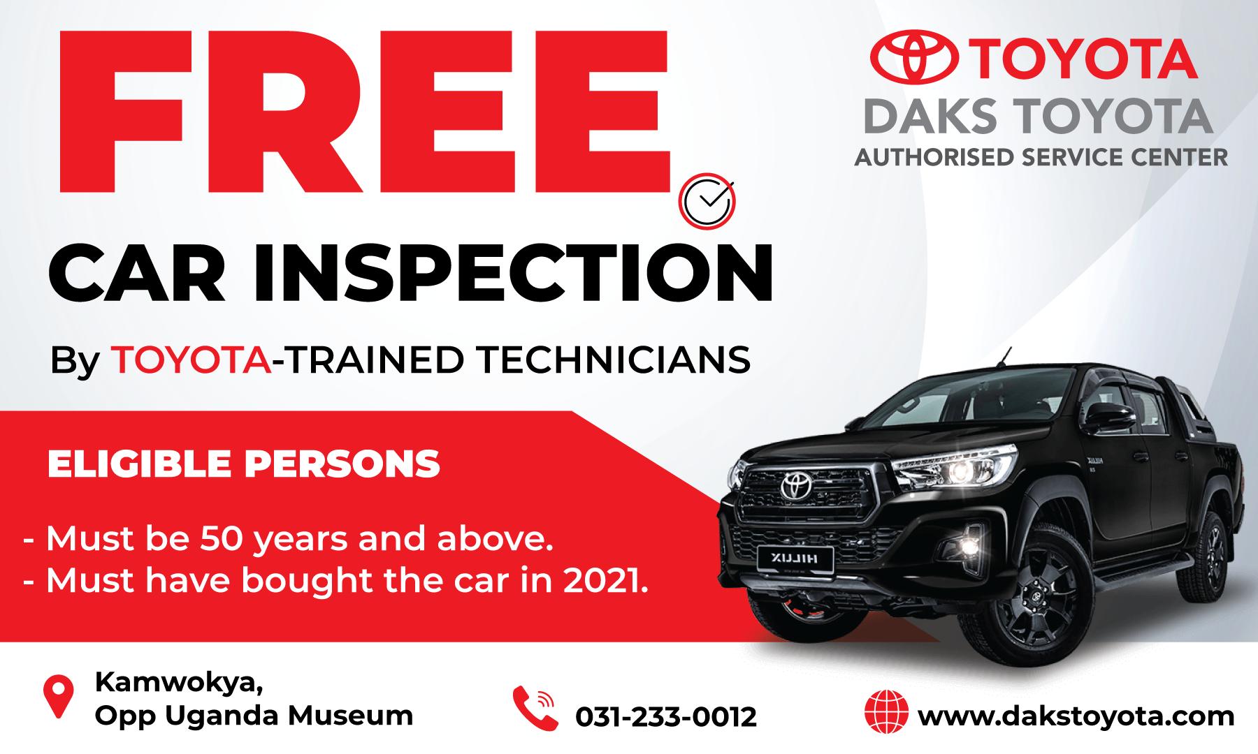 Free comprehensive car inspection